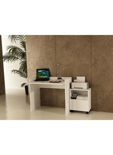 Sanal Mobilya Sirius Dolaplı Çalışma Masası 90-Gk Beyaz